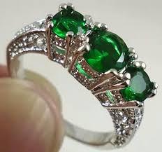 green gemstones rings images Women 925 silver round emerald gemstones ring wedding panna rings jpeg