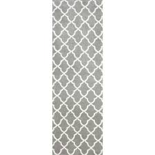 nuloom machine made kitchen microfiber trellis microfiber grey