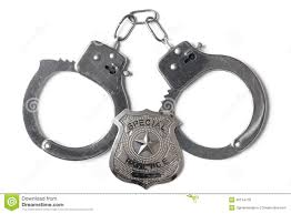 police badge and handcuffs stock photo stock photo image 46144778