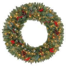 holiday time pre lit 18 christmas garland multi lights martha stewart living 36 in pre lit winslow fir artificial