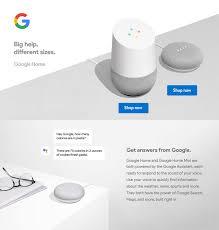google mini google home educational page