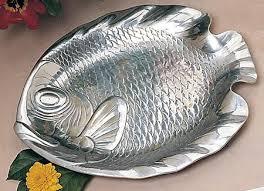 pewter platter bon chef 80256 medium fish platter pewter glo 12 1 4 x 15 1 2