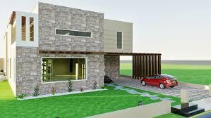 architectural design of 1 kanal house 10 ft sierra slim unlit