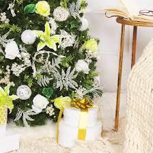 7 5ft pre lit artificial tree led white garden easy