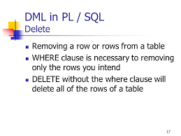 Delete All Rows From Table Sql Within Pl Sql Chapter 4 2 Sql Within Pl Sql Sql
