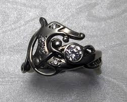 dragon wedding rings images Viking dragon engagement ring in 14k white gold metamorphosis