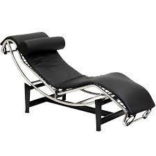 Upholstered Chaise Lounge Black Faux Leather Upholstered Chaise Lounge Convertible Reclining