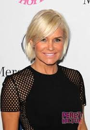 yolanda foster hair tutorial yolanda foster s red orange lace inset sweater big blonde hair
