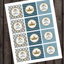 baby shower cupcake toppers little prince by amyssimpledesigns