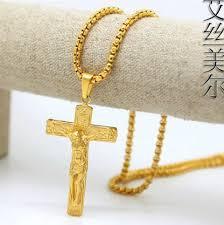 jesus cross gold necklace images 18k gold plated jesus cross pendants high quality fashion hiphop jpg