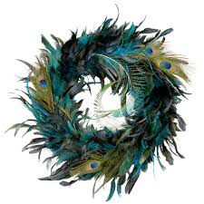peacock feather wreath by ashland