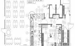 Commercial Kitchen Floor Plans Kitchen Design Layout Floor Archicad Cad Autocad Drawing Plan 3d