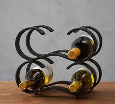 Pottery Barn Wine Racks Rustic Iron Stackable Wine Rack Pottery Barn