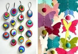 45 craft ideas for handmade garlands recycling felt pieces