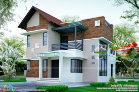 brick wall mix modern house plan kerala home design and floor plans