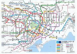 Tokyo Metro English Map by Cartography Old Tokyo