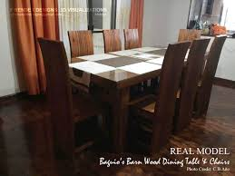 barnwood dining table and chairs 3d print model cgtrader