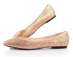 Prom Shoes Flats Gorgeous Rhinestone Rose Gold Wedding Evening Prom Shoes Flat 1cm