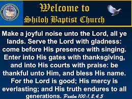 welcome to shiloh baptist church ppt