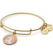childrens gold bracelets unicorn charm bangle children s miracle network hospitals
