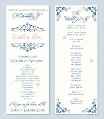 Wedding Program Sample Template Program Templates Uses Try The Pageprodigy Online Designer With
