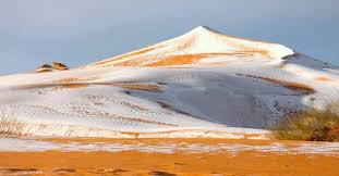 sahara snowfall snow appears in the sahara desert for third time in 40 years