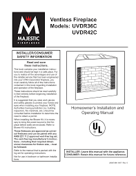 cfm corporation uvdr36c indoor fireplace user manual
