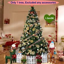 1 5m artificial tree ornaments decorations