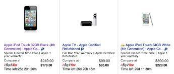 best black friday deals on refurbished apple ipods alleged apple ebay store offers better deals than apple refurb