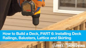 What Is A Banister On Stairs by How To Build A Deck Part 6 Installing Deck Railings Balusters