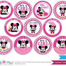 minnie mouse baby shower favors girl minnie mouse cupcake toppers for from aoprintablesforkids on