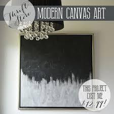 modern metallic artwork from a thrift store canvas hometalk