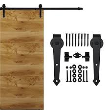 Sliding Barn Door Kits Homedeco Hardware Black Rustic Aroow Design Retro Wood Sliding