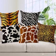 animal cushion cover zebra leopard tiger giraffe for children