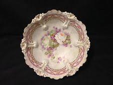 rs prussia bowl roses antique haviland limoges 9 shallow bowl roses gilt border bone