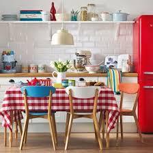 affiche cuisine retro cuisine deco retro inspiration annees 70 chaises formica bleues