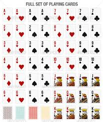 Playing Card Design Template Set Of 52 Playing Cards For Online Gaming By Ouzob Graphicriver