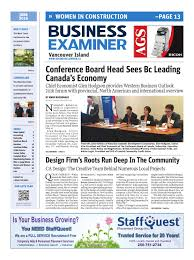 Credit Union Examiner Forum Business Examiner Vancouver Island June 2016 By Business