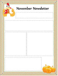 thanksgiving newsletter template