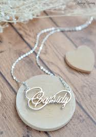 Personalized Script Necklace Infinity Name Necklace Personalized Infinity Necklace
