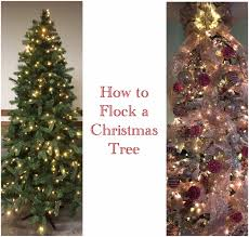 foster creativity how to flock a christmas tree
