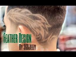 feather hair styles for men feather haircut design by 360jeezy hd youtube