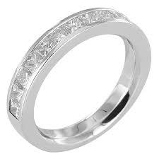 alliance en diamant alliances en platine avec diamants taille princesse ou baguette
