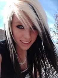 white hair with black lowlights black blonde hairstyles hair