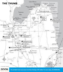 Detailed Map Of Michigan Printable Travel Maps Of Michigan Moon Travel Guides