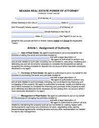 nevada minor child power of attorney form power of attorney