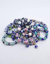evil eye beads bracelet images Floral glass beads nazar boncuk stretch evil eye bracelet ebay jpg