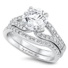 the jets wedding band the jet set 2ct cut russian lab diamond bridal set wedding