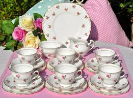 vintage tea set colclough fragrance vintage tea set for six to buy uk