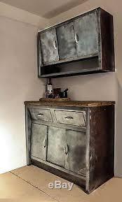 vintage metal kitchen cabinets vintage c1950 metal steel kitchen cabinets stripped metal